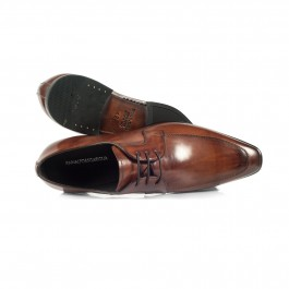 chaussure business derby en cuir brun_HAUT-1