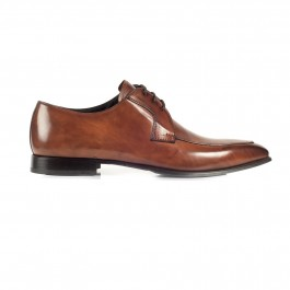 chaussure business derby en cuir brun_PROFIL-1