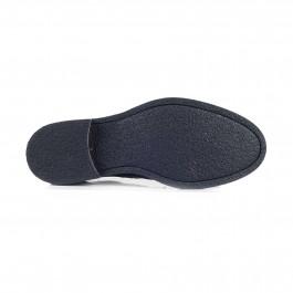 chaussure casual derby en cuir marine_SEMELLE-1