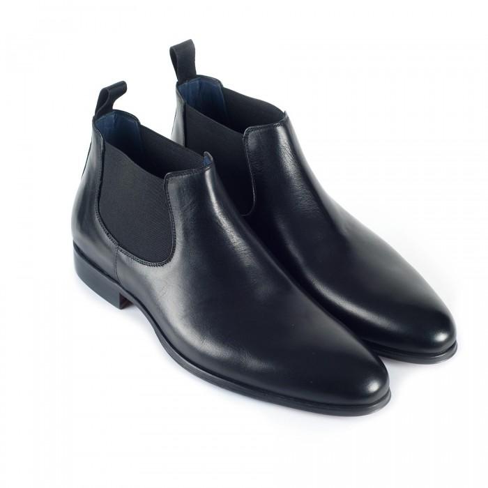 chaussure business bottines en cuir noir_3-4-1