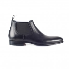 chaussure business bottines en cuir noir_COTE-1
