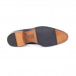 chaussure business bottines en cuir noir_SEMELLE-1