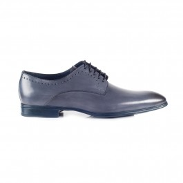 chaussure business derby en cuir anthracite_COTE-1