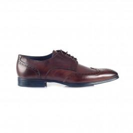 chaussure business derby en cuir brun_COTE-1