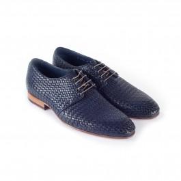 chaussure business derby en cuir marine_3-4-1