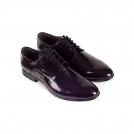 chaussure business derby en cuir bordeaux_3-4-1