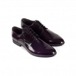chaussure business derby en cuir bordeaux_3-4-1