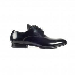 chaussure business derby en cuir marine_PROFIL-1