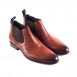 Chaussures business Bottines en cuir brun_3-4