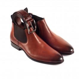 Chaussures business Bottines en cuir brun_3-4-ceinture