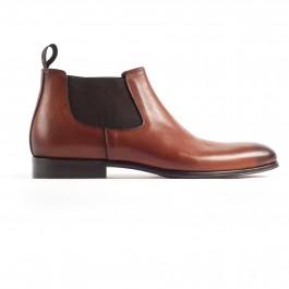 Chaussures business Bottines en cuir brun_cote