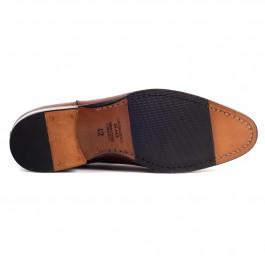 Chaussures business Bottines en cuir brun_semelle