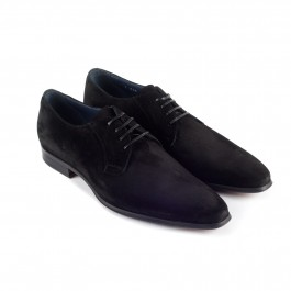 chaussure business derby en cuir noir_3-4