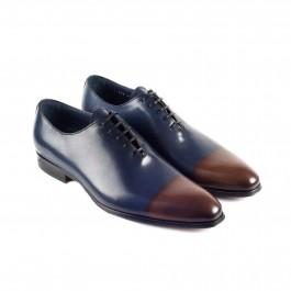 chaussure business richelieu en cuir marine_3-4