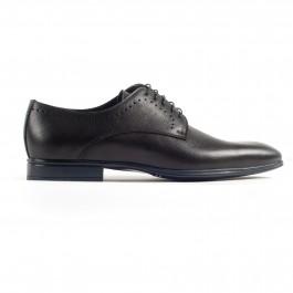 Chaussures business Derby en cuir Noir_cote