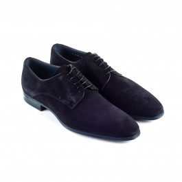 Chaussures business Derby en cuir marine_3-4