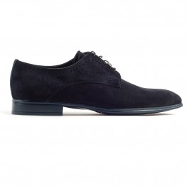 Chaussures business Derby en cuir marine_cote