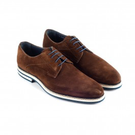 chaussure business derby en cuir brun_3-4