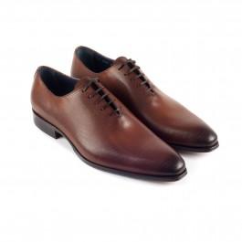chaussure business richelieu en cuir brun_3-4