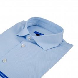 Chemise business bleu ciel Extra slim col italien_COL
