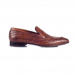 chaussure business Mocassin en cuir brun_PROFIL-1