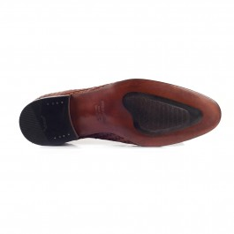 chaussure business Mocassin en cuir brun_SEMELLE-1