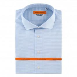 chemise business bleu ciel slim col italien_FACE