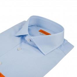 chemise business bleu ciel slim col italien_COL