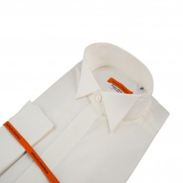 chemise business blanc cassé slim cérémonie_COL