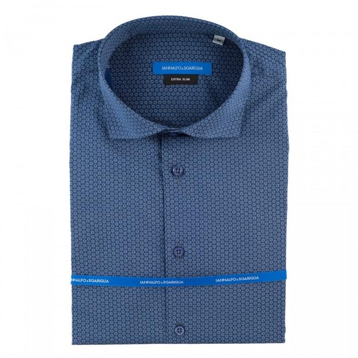 chemise casual marine extra slim col italien_FACE
