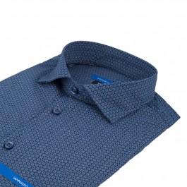 chemise casual marine extra slim col italien_COL