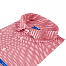 chemise casual rouge extra slim col italien_COL