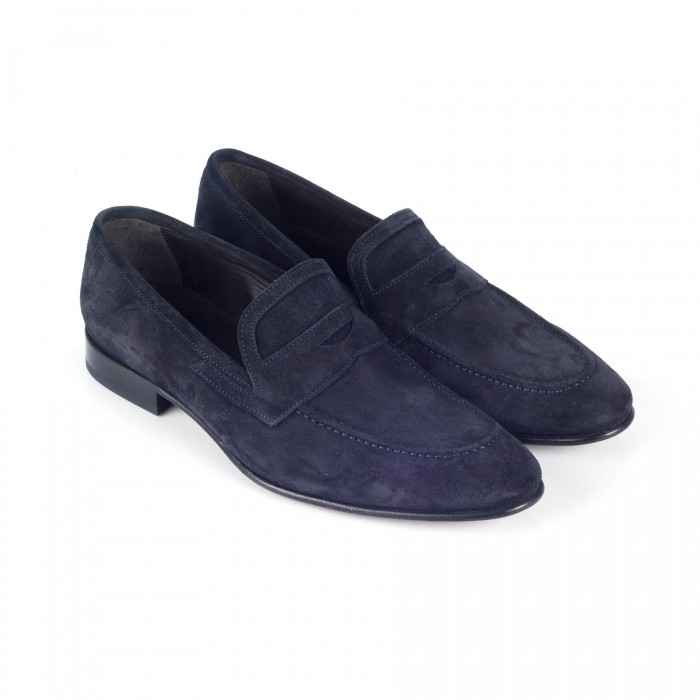 chaussure business mocassin en cuir marine_3-4-1