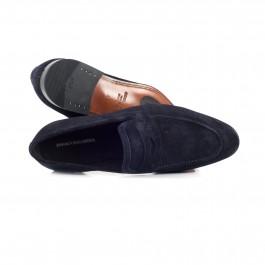 chaussure business mocassin en cuir marine_HAUT-1