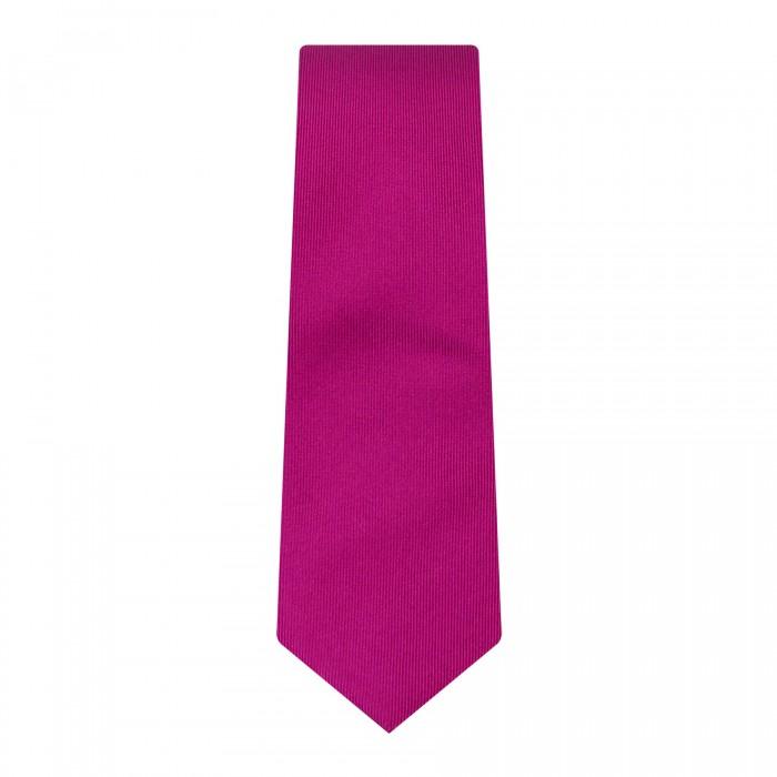 cravate slim fuchsia faux uni_ROLL