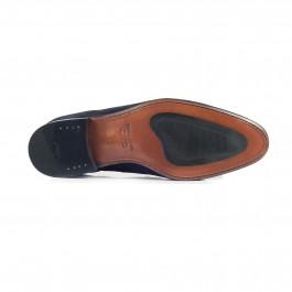 chaussure business mocassin en cuir marine_SEMELLE-1