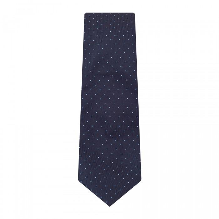 cravate slim marine à pois_ROLL