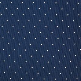 cravate slim marine à pois_TISSU