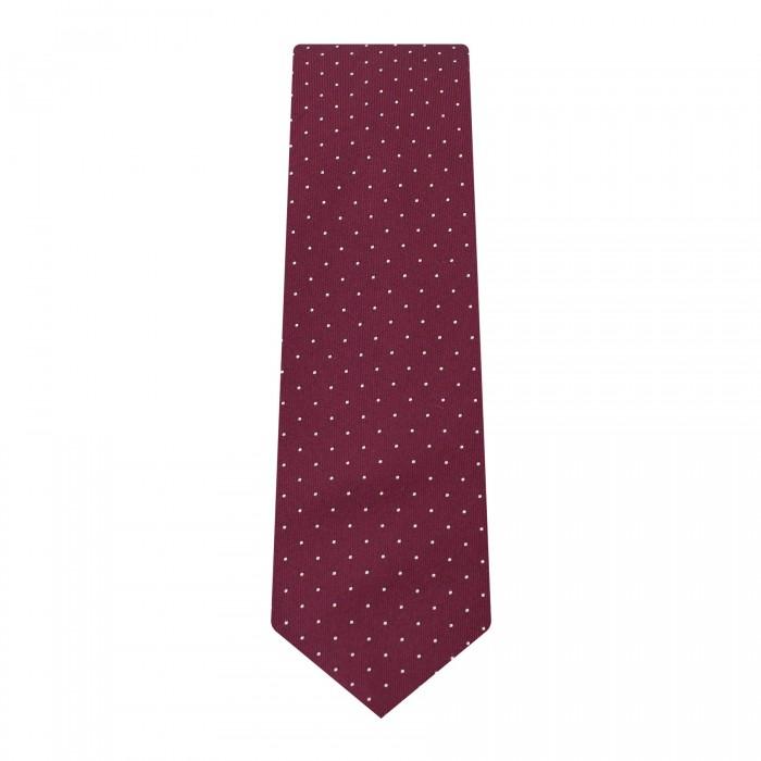 cravate slim bordeaux à pois_ROLL