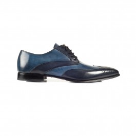chaussure business derby en cuir marine_PROFIL-1