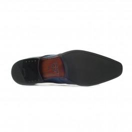 chaussure business derby en cuir marine_SEMELLE-1