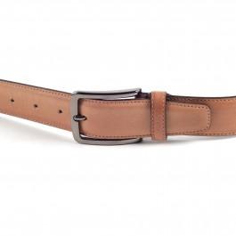 ceinture cuir lisse brun_BOUCLE