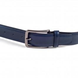 ceinture cuire lisse marine_BOUCLE