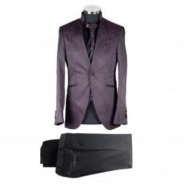 Costume business bordeaux slim cérémonie_ALL