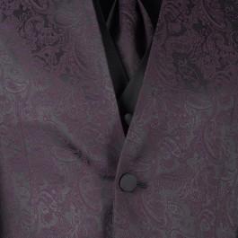 Costume business bordeaux slim cérémonie_COL-DETAIL