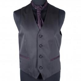 Costume business bordeaux slim cérémonie_VESTON