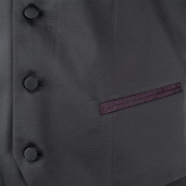 Costume business bordeaux slim cérémonie_VESTON-POCHE