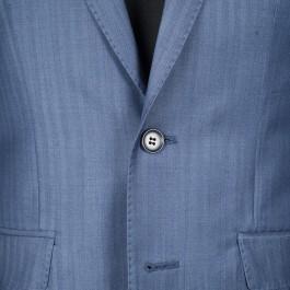 costume business marine slim 2 boutons_BOUTNIERE-1