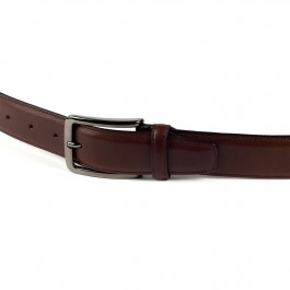 ceinture cuir lisse brun_BOUCLE-1