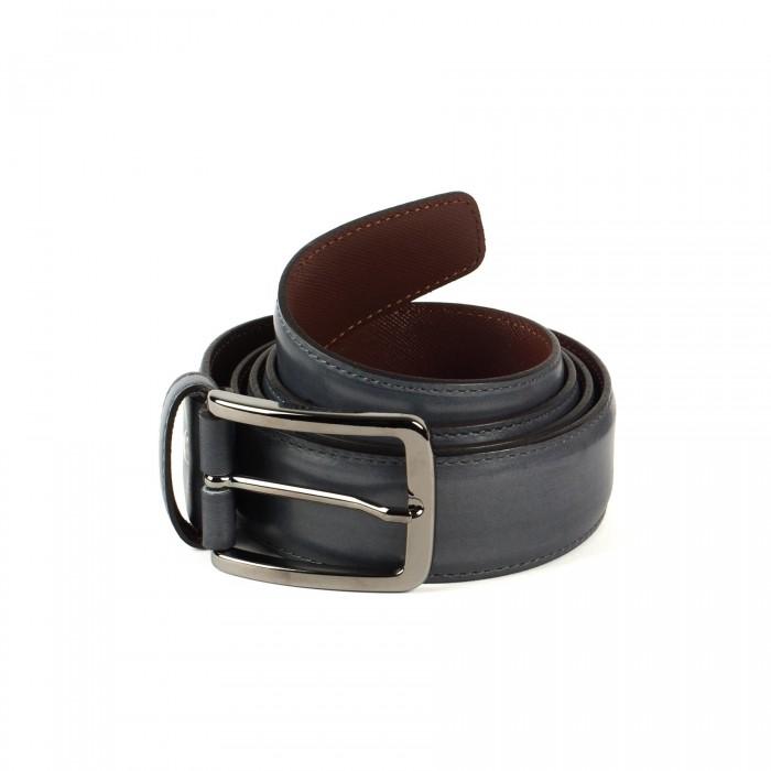 ceinture cuire lisse gris moyen_ROLL-1